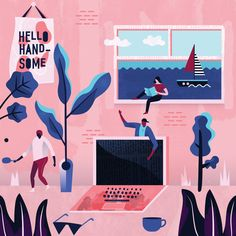 Sofia Varano is an Australian graphic designer and artist specialising in editorial and commercial illustration. Website Illustration, Flat Design Illustration, Simple Illustration, Digital Illustration, Book Illustration, Illustration Styles, Behance, Grafik Design, Illustrations And Posters