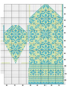 "As of late, I've been playing with and redesigning one of the mittens in ""Latvian Mittens"" by Lizbeth Upitis (published by School House Press). The graphs in the book are very inc… Knitted Mittens Pattern, Fair Isle Knitting Patterns, Knit Mittens, Knitting Charts, Knitted Gloves, Knitting Stitches, Knitting Designs, Knitting Socks, Knitting Projects"