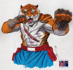 Tiger Sagat by Ron Ackins