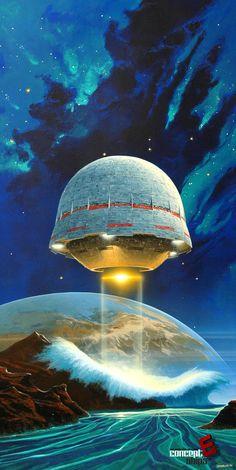 Retro Future, Science Fiction, Retro-Futurism, Space Future, Sci-Fi Art, L'Age des Etoiles, by Manchu
