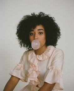 Teen pinterest model girl black