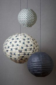 mulling these for Clemmie's nursery...     Patterned Collage Globes (3)