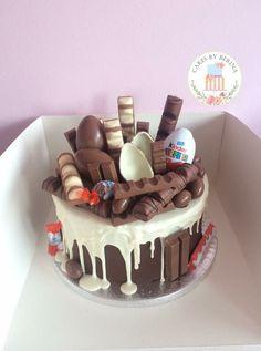 Sweetie Birthday Cake, Candy Birthday Cakes, Candy Cakes, Cupcake Cakes, Fun Baking Recipes, Cake Recipes, Dessert Recipes, Chocolate Drip Cake, Chocolate Explosion Cake