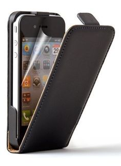 DN-TECHNOLOGY®  iPhone 4 Case Black Magnetic Soft Leather Closure Flip Case With Screen Protector DN-TECHNOLOGY® http://www.amazon.co.uk/dp/B00EC7QIZS/ref=cm_sw_r_pi_dp_tYoLwb0V893JQ
