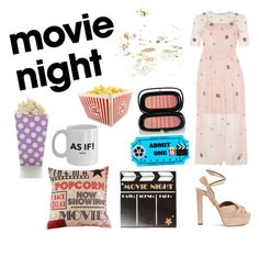 """Night for Movies"" by cici-rahma on Polyvore featuring Improvements, Lace & Beads, Marc Jacobs and Aquazzura"