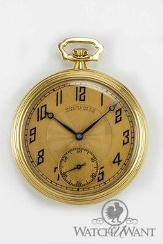 Patek Philippe 18k Champagne Pocket Watch - George B. Lautz Jr. Circa 1920s