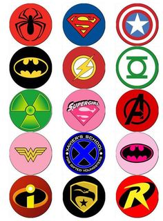 Superhero logo edible wafer paper or icing sheet toppers cupcake - Logos Avengers Birthday, Superhero Birthday Party, Super Hero Birthday, Superhero Classroom, Superhero Logos, Superhero Clipart, Superhero Treats, Superhero Cupcake Toppers, Logo Super Heros