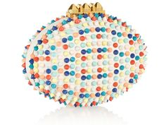 Because it's not every day one comes across a clutch that looks like a cross between a Damien Hirst artwork and a durian, may I present this clutch from Christian Louboutin's S/S14 collection. Simply known as the Clas Mina (and no, it's not a typo in case you were wondering if it should have been 'c