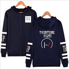 Korean Fashion Brand Clothing 21 Pilots Twenty One Pilots Hooded Zipper Sweatshirt Female Male Hip Hop Oversized Hoodie Women