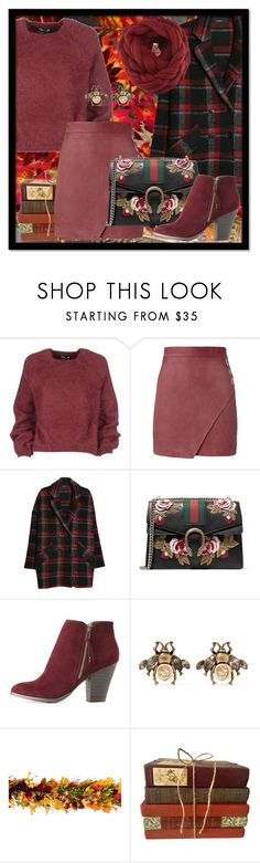 """""""Autumn [marsala]"""" by ronny22 ❤ liked on Polyvore featuring Tom Ford, Michelle Mason, MANGO, Gucci, Charlotte Russe, Frontgate and vintage"""