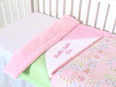 Minky Baby Blanket  Custom Personalized  by Customquiltsbyeva, $55.00