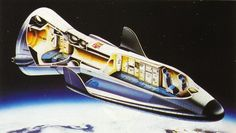 European spaceplane Hermes - A European Space Agency design for a manned launch/reentry vehicle first planned in the 1970s.