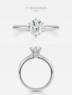 Striking height and poise- our 'Allure' engagement ring #diamonds #engagementrings #weddingring