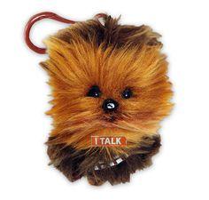 LLavero peluche Chewbacca, con sonido de 11cm. Star Wars Episodio VII Divertido llavero peluche de 11 con sonido perteneciente al personaje Chewbacca, basado en la saga de Star Wars Episodio VII.