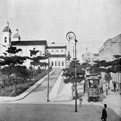 Av. Eduardo Ribeiro com a Av. Sete de Setembro. Manaus. Álbum do Amazonas 1901-1902.