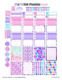 FREE Goals Printable Planner Stickers by Beayoutiful Planning