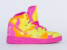 Adidas Originals X Jeremy Scott Instinct Hi Womens in Neon Camo at Solestruck.com