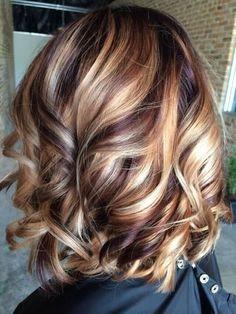 Carmel Hair Color, Hair Color Auburn, Hair Color Highlights, Red Hair Color, Blonde Color, Color Red, Thick Highlights, Carmel Highlights, Dark Blonde