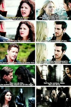 Snowing and Captain Swan
