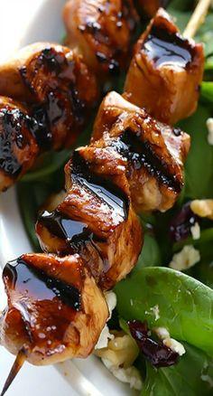 Easy Balsamic Chicken Skewers