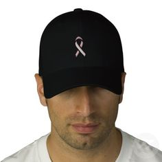 Breast Cancer Pink Ribbon Embroidered Hat #breast #cancer #pink #ribbon #embroidered #hat