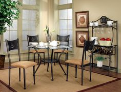 Have to have it. Cramco Maxwell Collection Round Glass Top Dining Table Set - $0 @hayneedle