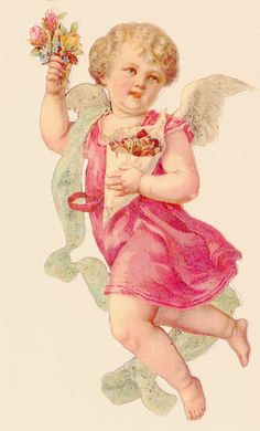 Vintage Victorian Cut Out Angel