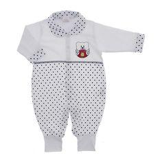 Macacão para Bebê de Malha Poá Colorido - 9030 - Mod.3 | Cegonha Encantada
