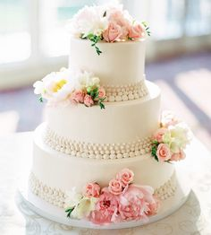 Photo: AhmetZe; Wedding Cake: Palermo's Bakery; Feast Your Eyes on These 36 Amazing Wedding Cakes. To see more: http://www.modwedding.com/2014/03/27/36-amazing-wedding-cakes/  #wedding #weddings #cake #reception