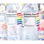 My water labels are a party in the front... AND on the back.  #Chickabug #waterlabels #personalized #waterproof #birthdayparty  #loveisinthedetails
