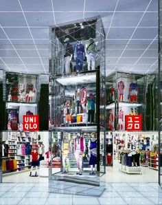 Uniqlo Megastore by Curiosity, Tokyo visual merchandising store design