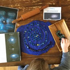 Our Favorite Way to Study Space Purple Food Coloring, Study Space, Homemade Playdough, New Crafts, Nature Study, Nature Journal, Science Activities, Solar System, Night Skies