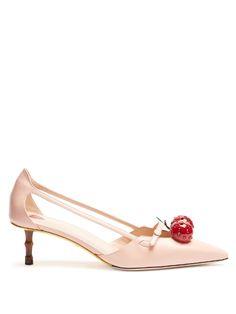 GUCCI Unia crystal-cherry pumps. #gucci #shoes #pumps