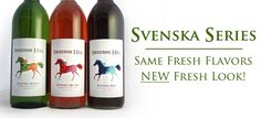 Our Svenska line of semi-sweet wines has been one of our most popular mini-series since we opened in 1985. Now enjoy the delicious flavors of these grapey wines in their new labels!