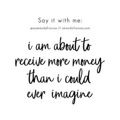 Prosperity Affirmations, Money Affirmations, Law Of Attraction Affirmations, Law Of Attraction Quotes, Quotes To Live By, Life Quotes, Success Quotes, Drake Quotes, Quotes Quotes