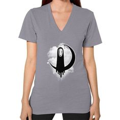 Faceless V-Neck (on woman)