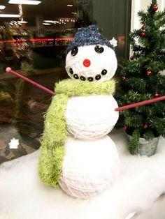 WINTER KNITTER: Knitting Store Display