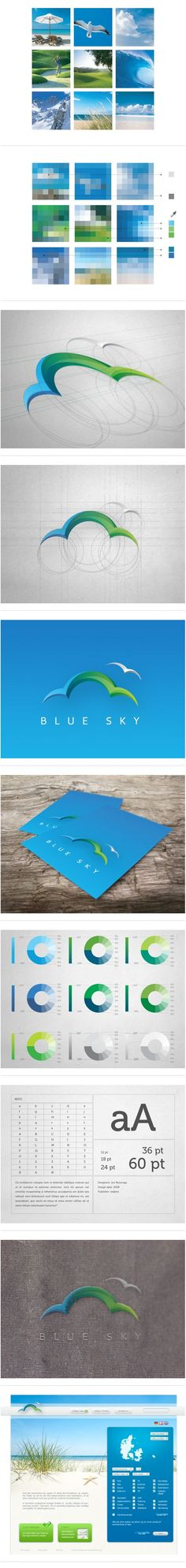 Blue Sky branding and logo design process