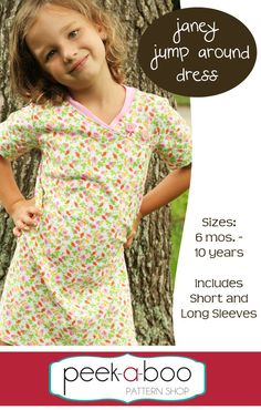 Janey Jump Around Dress Free PDF Sewing Pattern