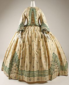 Dress  --  1862  --  French  --  Silk  --  Metropolitan Museum of Art Costume Institute