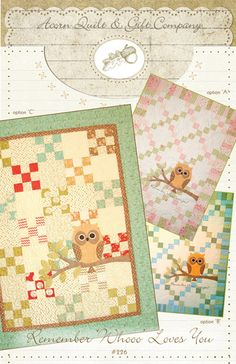 Remember Whooo Loves You Quilt Pattern by by 44thStreetFabric