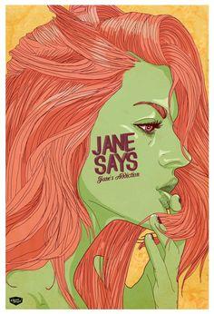 Jane says by Elian Tuya Villena, via Behance; green...