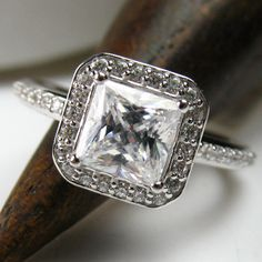 Halo Engagement Ring. Oh My God