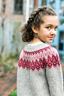 Warm a dauntless Viking adventurer or a treasure hunter in search of seaboard flotsam with a light, cozy fabric of Loft. Atlas features a bold Icelandic-inspired motif about the circular yoke. The deep chevrons require the use of three colors on some rounds, so this pattern is most suited for knitters with some colorwork experience. The pullover is worked in the round from the bottom up with polished details like tubular edging and short rows for a comfortable fit.