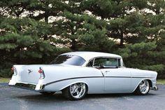 1956 Chevrolet 210 Pro Touring by ~Vertualissimo on deviantART 1956 Chevy Bel Air, Chevrolet Bel Air, Corvette, Vintage Cars, Antique Cars, Automobile, Volkswagen, Toyota, Pontiac