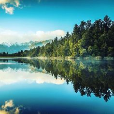 A very special place in New Zealand - Lake Matheson.