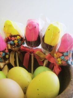 What do you get when you put a bow with a Peep? Little bow Peeps, of course!