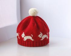 Westie Hat  PDF Knitting Pattern by byEline on Etsy