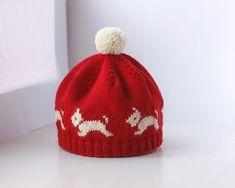 Westie Hat  PDF Knitting Pattern by byEline on Etsy
