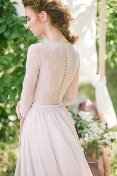 Model: image de fleur 007 Silhouette: A-line Length: floor length Color: milk Fabrics (skirt): mesh, silk chiffon Fabrics (bodice): lace Bodice: Lavender Wedding Dress, Boho Wedding Dress, Boho Dress, Wedding Gowns, Dress Lace, Lace Wedding, Modest Wedding Dresses, Bridal Dresses, Flower Girl Dresses